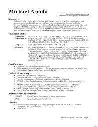 Server Administration Sample Resume 6 System Admin Cover Letter Administrator