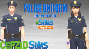 Sims Freeplay Halloween by Modthesims The Sims Freeplay Police Uniform Sims 4 Cc