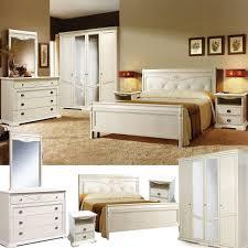 schlafzimmer komplett set leonie schlafzimmermöbel im französischen landhausstil massivholz weiß