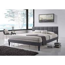 King Size Platform Bed With Headboard by Platform Beds U0026 Headboards Bedroom Furniture The Home Depot