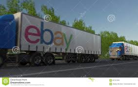 Freight Semi Trucks With EBay Inc. Logo Driving Along Forest Road ... Ebay Peterbilt Trucks 1984 359 Custom Toter Truck 1977 Gmc Sierra 35 Dump For Sale On Ebay Youtube James Speorl Frederick Marylands Most Teresting Flickr Photos Ebay Ebay Stock Price Financials And News Fortune 500 1 64 Diecast Tractor Trailer Scam Digger Excavator Recovery Truck Tipper Van 11 Vehicles In Classic Commercial Accsories Tow Used For Sale On Coast Cities Equipment Sales Austin Vintage Lorry Old Pinterest Vintage Cars Diesel Laptops From Selling To Making 20myear Starter 8pc Ledglow Truck Bed White Led Lighting Light Kit Chevy Dodge