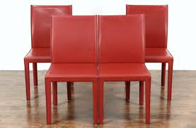 SOLD - Set Of 4 Red Leather Dining Or Game Table Chairs, Signed ... Ander Walnut Taper Back Red Upholstered Ding Chair Country House Fniture Set Of 2 Linblend Abbie World Market Striped Chairs New Homelegance Royal Design Custom Nailhead Tufted For Sale At 1stdibs 7 Modern Homes Cute White Leather Room Black Fabric Red Upholstered Ding Chairs For Really Encourage Iaffdistrict14org Amazoncom Hook Serena Solidwood Fine With 50 Off Velvet Round Glass Kitchen Table Ivory Faux