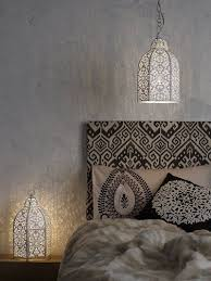 Headboard Covered In Fabric Black And White Moroccan Bedroom Pin Repinned By Zimbabwe Artisan Alliance