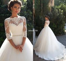 vintage lace 3 4 long sleeve ball gown wedding dresses milla nova