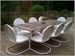 Vintage Homecrest Patio Table by Vintage Metal Patio Furniture Sets Chairs Home Decorating