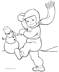 Fun Coloring Page Of Kid