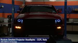 mustang raxiom 2010 style smoked headlights 05 09 gt v6 review