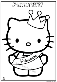 Princess Kitty Coloring Pages