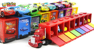 100 Lightning Mcqueen Truck Disney PIXAR Cars McQueen Mack Micro Car Carrier