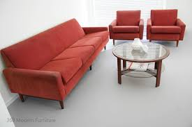 Danish Modern Sofa Ebay by Mid Century Parker Lounge Suite Sofa 4 Seater Couch 2 2m U0026 Arm