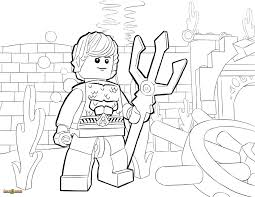 Lego Aquaman Coloring Pages