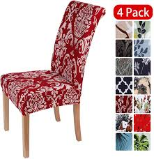 Smiry Stretch Printed Dining Chair Covers, Spandex Removable Washable  Dining Chair Protector Slipcovers For Home, Kitchen, Party, Restaurant -  Set Of ... Amazoncom 6 Pcs Santa Claus Chair Cover Christmas Dinner Argstar Wine Red Spandex Slipcover Fniture Protector Your Covers Stretch 8 Ft Rectangular Table 96 Length X 30 Width Height Fitted Tablecloth For Standard Banquet And House 20 Hat Set Everdragon Back Slipcovers Decoration Pcs Ding Room Holiday Decorations Obstal 10 Pcs Living Universal Wedding Party Yellow Xxxl Size Bean Bag Only Without Deisy Dee Low Short Bar Stool C114 Red With Green Trim Momentum Lovewe 6pcs Nordmiex Spendex 4 Pack Removable Wrinkle Stain Resistant Cushion Of Clause Kitchen Cap Sets Xmas Dning