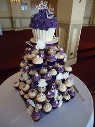 Purple Wedding Cake And Cupcake Ideas