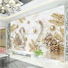 Luxury Wallpaper Jewelry Swan Wall Mural Custom 3D For Diamond Bedroom Beauty Salon Coffee Shop Modern Designer Room Decor