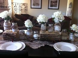 Burlap And Lace Mason Jar Centerpieces Cozy 0 On Accesories