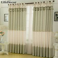 Online Shop Fairies Window Curtains Rustic Style Curtain Small Plaid Living Room
