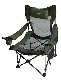 Portable Mesh Folding Camping Chair With Cushion | Folding ...
