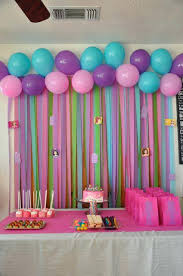 Birthday Party Decoration Ideas At Home Best Friends On Balloon Wall Decorations Kids