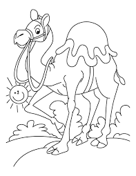 Walking Arabian Camel Coloring Page