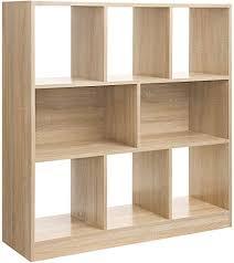 vasagle bücherregal raumteiler regal standregal aus holz mit offenen fächern vitrine für wohnzimmer schlafzimmer kinderzimmer und büro 97 5 x