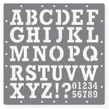 Printable Letters Stencil of Alphabets Numbers and Symbols