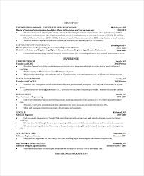 Computer Science Student Resume Sample