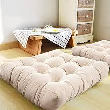 maxyoyo großes quadratisches bodenkissen massives sitzkissen kordsamt tatami kissen für meditation wohnzimmer balkon büro outdoor 55 9 x