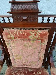 alter thronstuhl holz deko gründerzeit sammeln möbel wohnzimmer