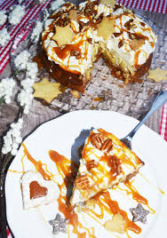 feiner winterkuchen salzkaramell knusper cheesecake mit