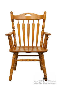 Details About TELL CITY Hard Rock Maple Arrow Back Dining Arm Chair 8073-48