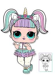 Unicorn Series 3 LOL Surprise Doll Coloring Page