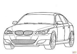 Bmw M5 E60 Car Coloring Page