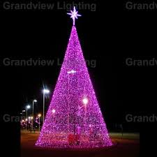 outdoor colorful large led decoration christmas tree light for