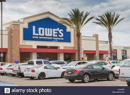 Lowe s hardware and home improvement store warehouse exterior view