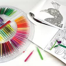 Enchanted Forest Coloring Book And 100 Marker Set