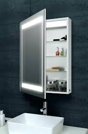 bathroom mirror cabinets uk with lights and shaver socket aura