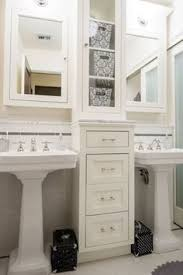 Pedestal Sink Storage Cabinet by How To Get Two Sinks And Storage In A Small Bathroom For The