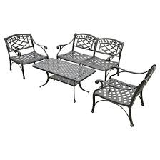 Cast Aluminum Outdoor Sets by Sedona 3 Pc Cast Aluminum Outdoor Conversation Seating Set Black