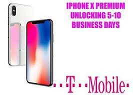 T Mobile iPhone X Factory Unlock Service CLEAN FINANCED INACTIVE