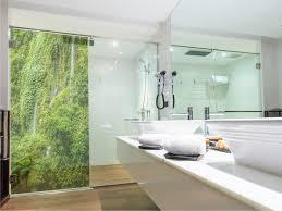 hochwertiger duschwand druck regenwald