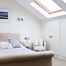 A Light And Airy Bedroom With Wardrobes In The Eaves