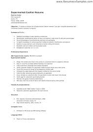 Resume For Cashier In Retail Best Ideas Of Sample Stores Letter