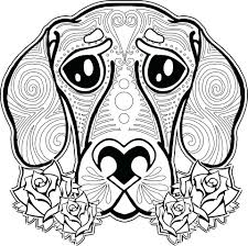 Printable Pug Dog Coloring Pages Free Adults For Sled Full Size