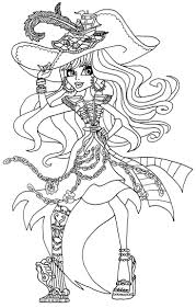 Monster High Characters Coloring Pages GetColoringPagescom