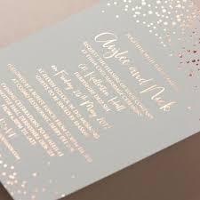 Beautiful Rose Gold Foil Confetti Elegant Wedding Invitation