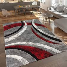 teppich hailee in grau rot