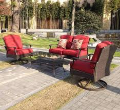 Walmart Outdoor Furniture Replacement Cushions by Better Homes And Gardens Azalea Ridge 4 Piece Patio Conversation