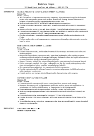 Construction Safety Manager Resume Samples | Velvet Jobs Free Resume Templates Cstruction Laborer Structural Engineer Mplates 2019 Download Worker Sample Guide 20 Examples Example And Writing Tips 11 Amazing Livecareer 030 Project Manager Template Word Cstruction Resume Mplate Sample Skills Put Cover Letter For Managers In Management