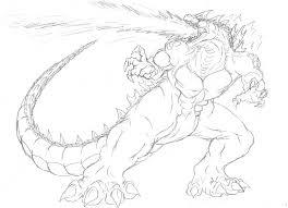 Godzilla Coloring Pages 28645