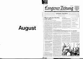 allgemeiner anzeiger heimatblatt für die stadt langen und